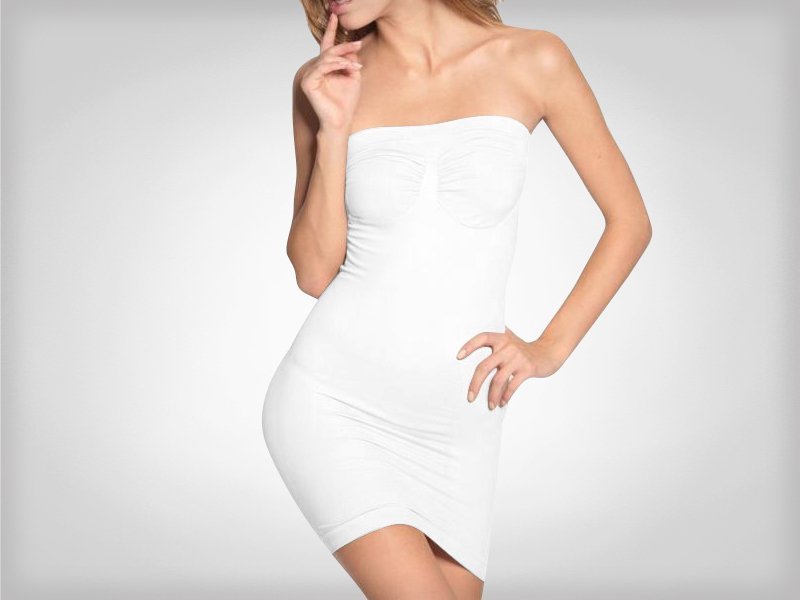 Women 39 S Strapless Body Shaper Dress Crazy Sales We