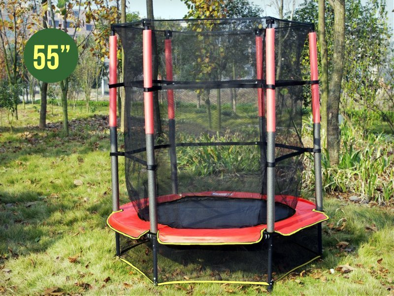 55inch Kids Mini Trampoline with Safety Net