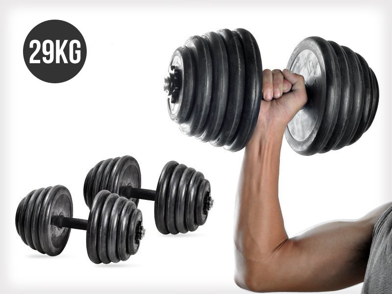29KG Adjustable Free Weight Rubber Dumbbell Set