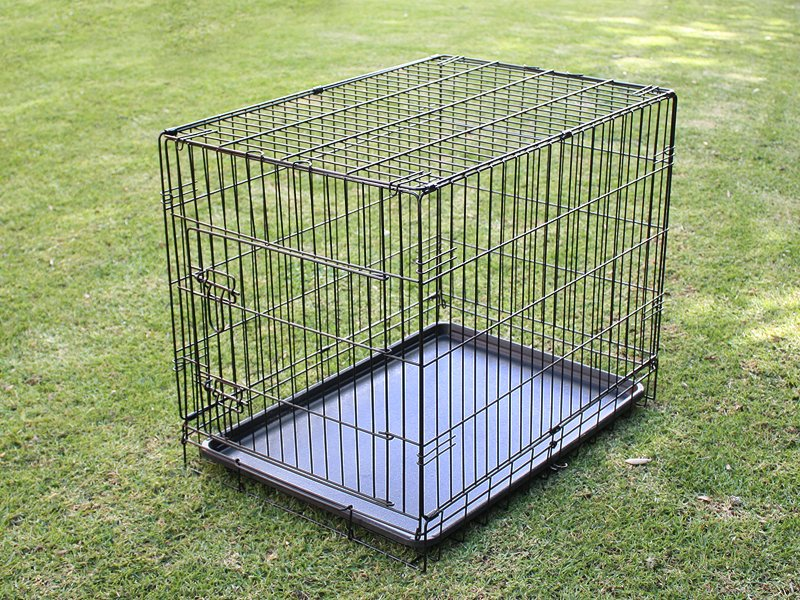 Foldable Dog Cage Kennel - Double Door L 30""
