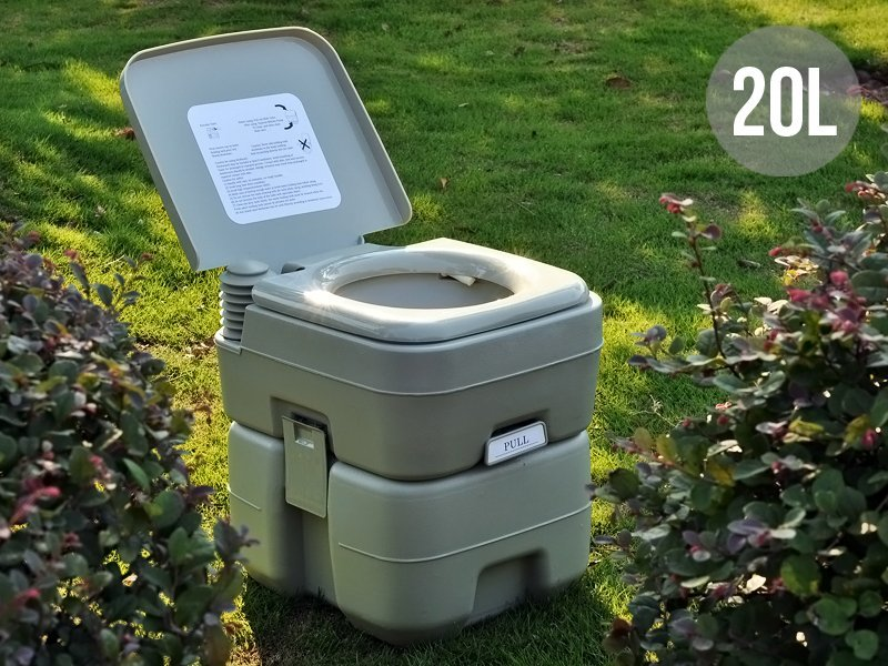20L Portable Outdoor Camping Toilet with Flush