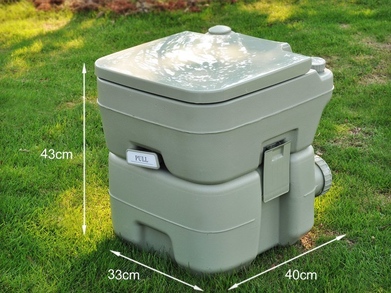 20l Portable Outdoor Camping Toilet With Flush Crazy