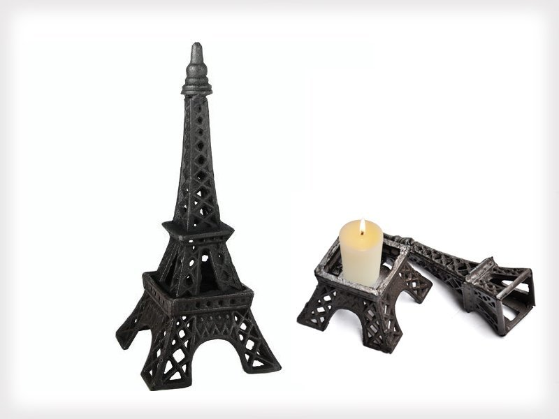 Cast Iron Eiffel Tower Candle Holder Crazy Sales We