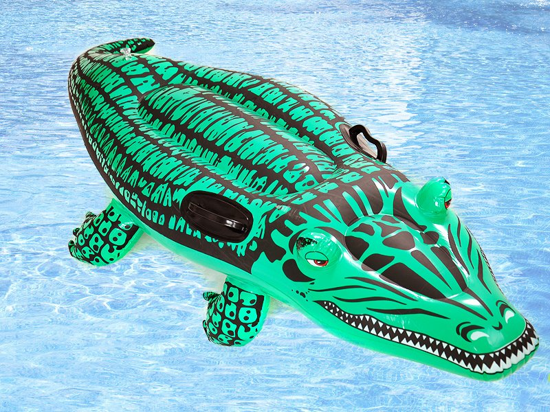 Beautiful Inflatable Crocodile Rider / Pool Toy @ Crazy Sales   We Have The Best  Daily Deals Online!