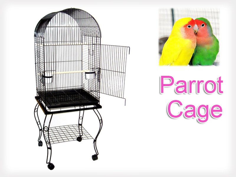 Dome Top Pet Cage with Stand and Wheels