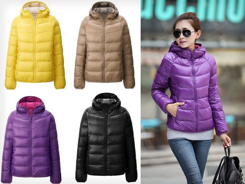 Women Duck Down Puffer Jacket with Sleeves   Hood @ Crazy Sales ...