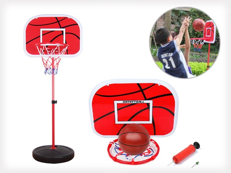 Adjustable Kids Basketball Stand with Basketball