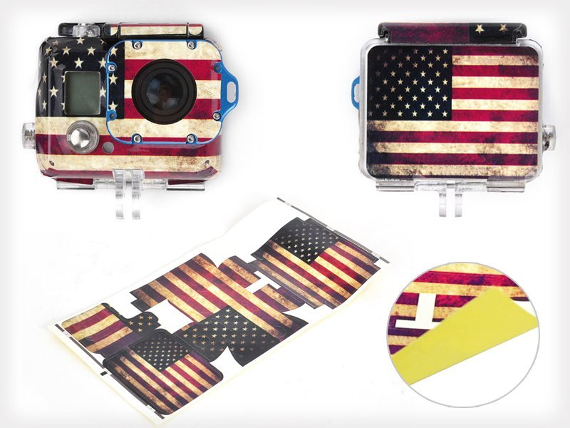 Gopro Hero3 Waterproof American Flag Sticker
