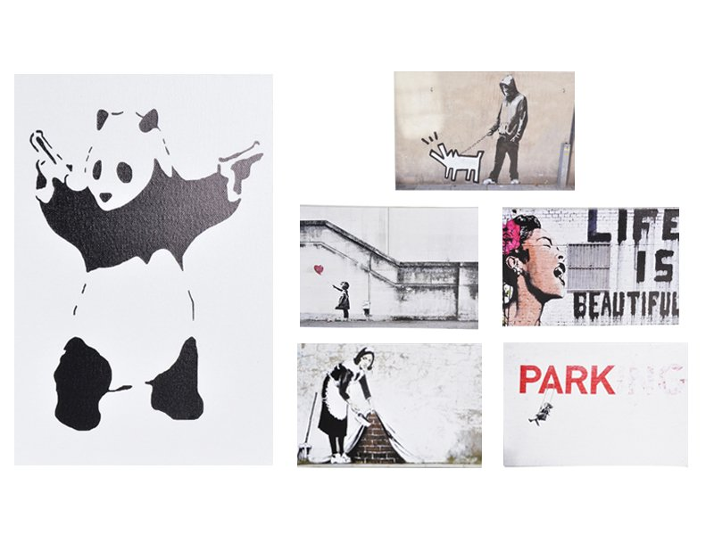 Banksy A3 Canvas Painting Collection 1