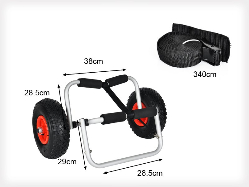 Collapsible Canoe / Kayak Wheel Cart Boat Carrier