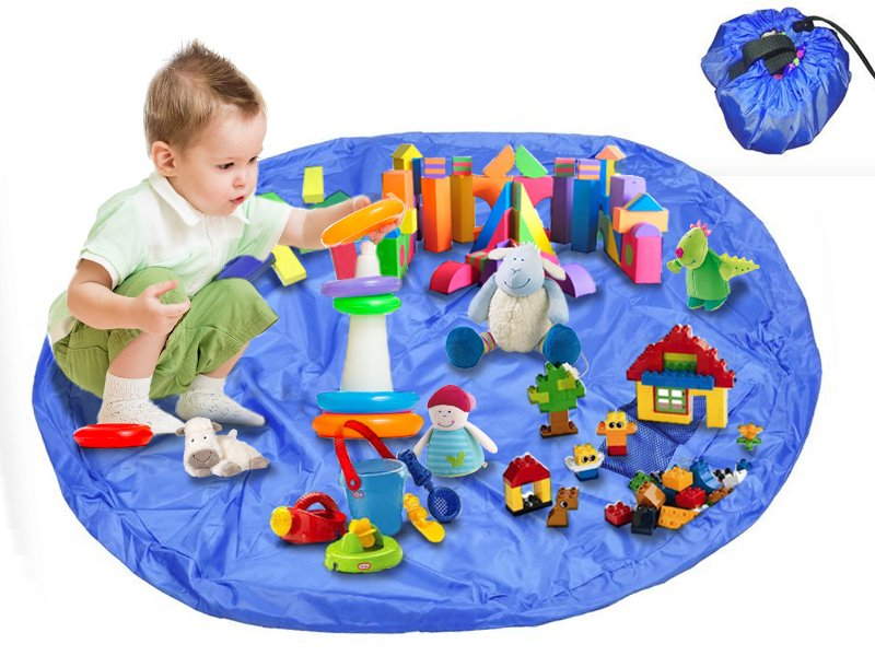 1.5M 2-in-1 Kids Play Mat + Toy / Lego Storage Bag
