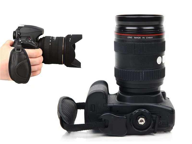 Leather Hand Strap Wristband for DSLR Camera