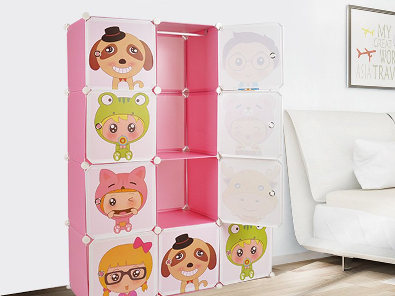 12pc Kids DIY Storage Wardrobe / Organiser