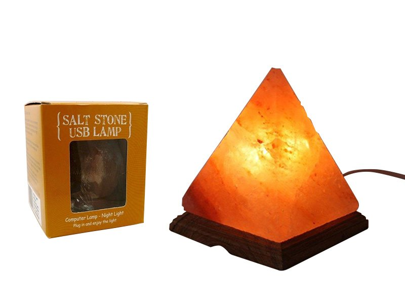 Salt Lamps Safe For Pets : Pyramid-Shaped USB Salt Lamp @ Crazy Sales - We have the best daily deals online!