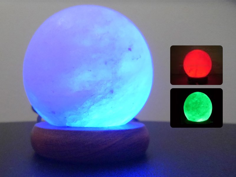 Salt Lamps Safe For Pets : White Ball-Shaped USB Salt Lamp @ Crazy Sales - We have the best daily deals online!