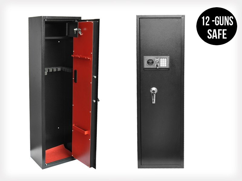 Lockable Rifle/Gun Safe For 12 Guns