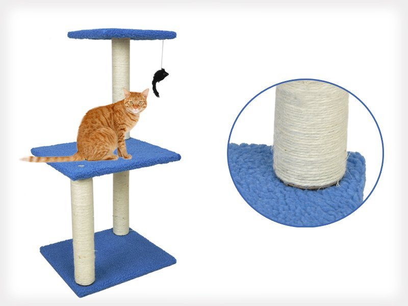 3 Tier Cat Tree House with Play Toy