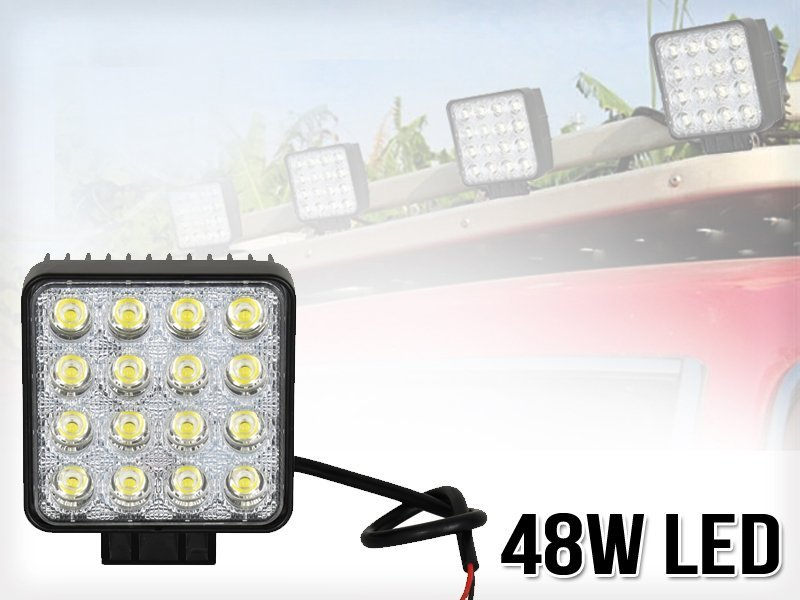 2 x 48W LED Work / Off-Road Floodlights