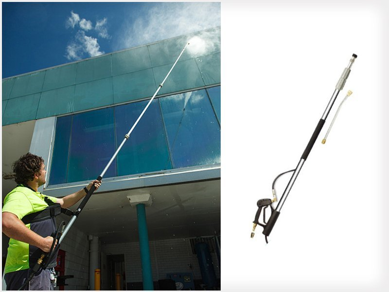 Water Blaster Telescopic Cleaning Wand Spray 18ft