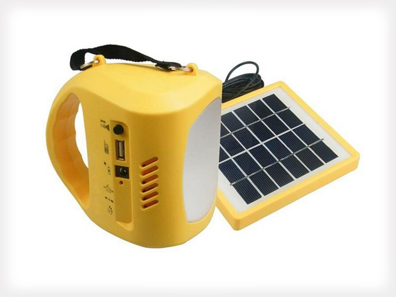 Solar Outdoor Camping Light with USB Charger & FM