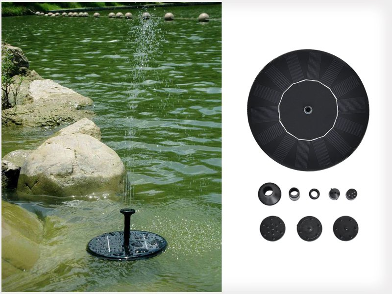 Solar Power Fountain Water Pump Floating Panel Kit