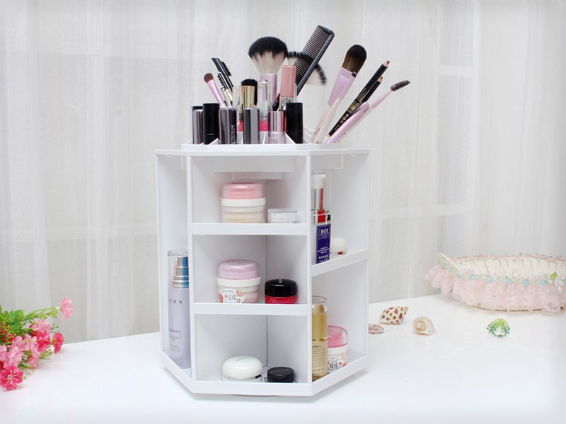 4 Layers Rotating Cosmetics Makeup Organiser