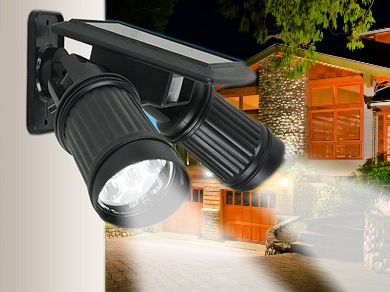 Solar Sensor Adjustable Security Light