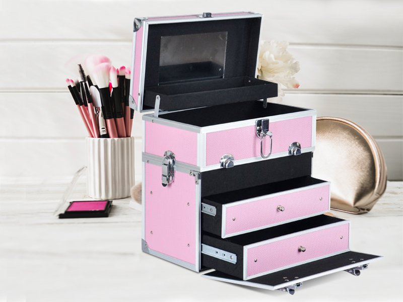 Cosmetic Beauty Makeup Carry Case Box