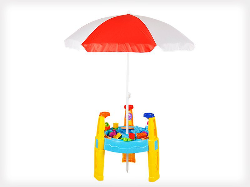 outdoor kids water sand table with umbrella crazy sales we have the best daily deals online. Black Bedroom Furniture Sets. Home Design Ideas