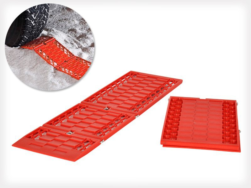 Foldable Auto Traction Mat Tire Grip - 2 Pack
