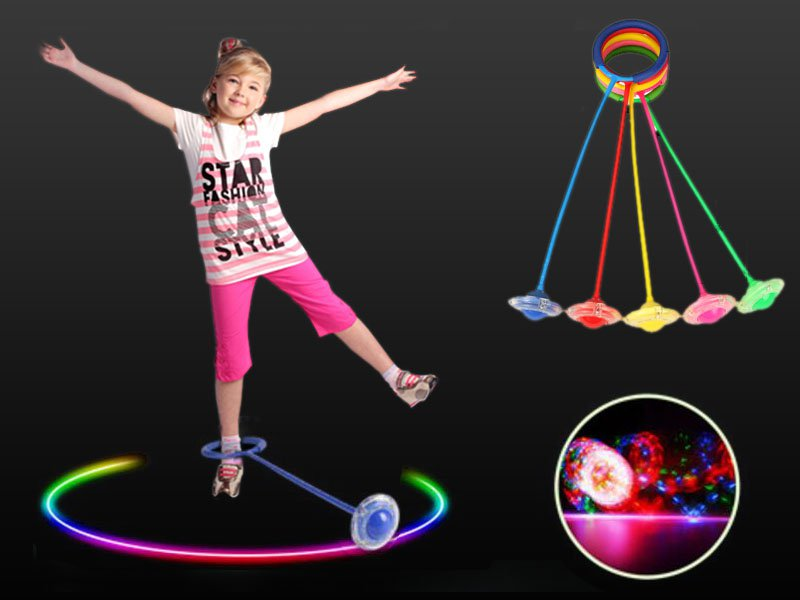 Fitness Jump Ring With LED Lights