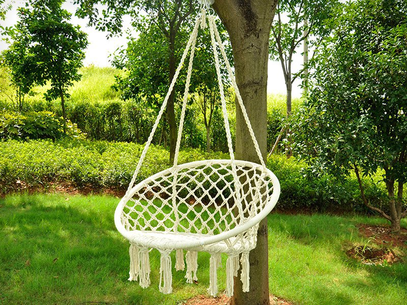 Large Macramé Swing Chair