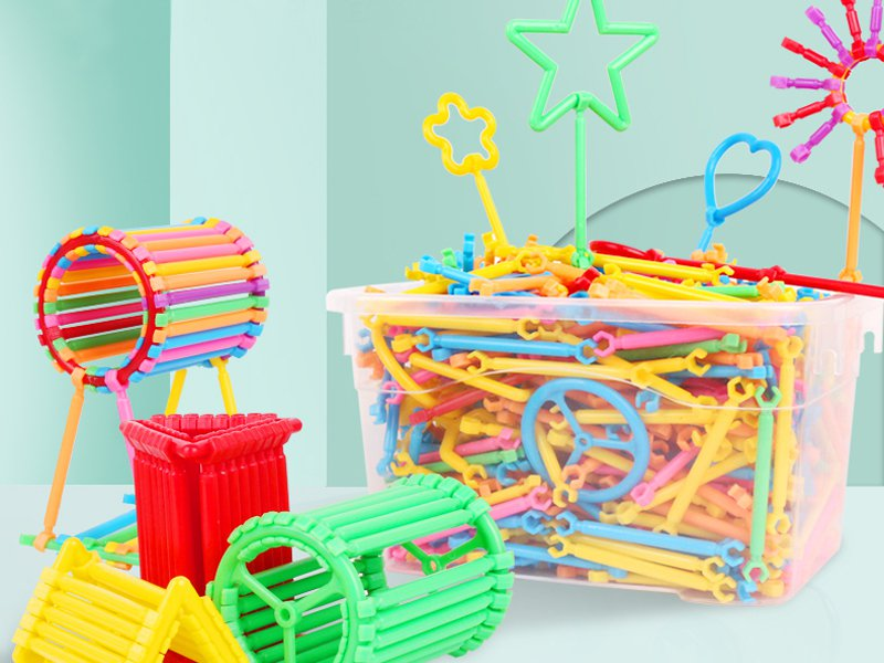 Easy-Snap 3D Building Sticks - 500PC