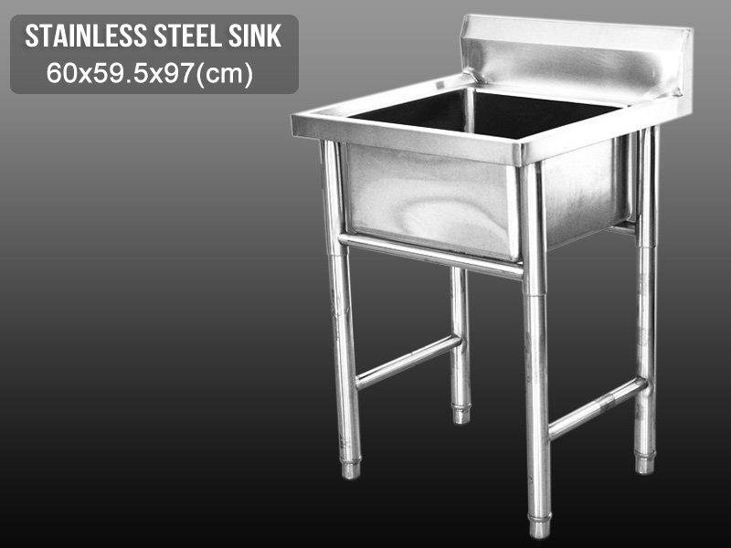 Standalone Stainless Steel Kitchen Sink - Single
