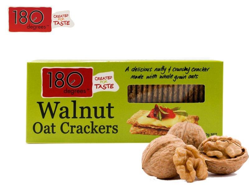 180 Degrees Walnut Oat Crackers - 150g 4pk @ Crazy Sales ...