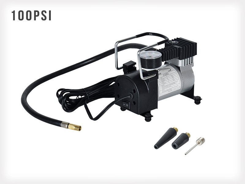 12V Portable Air Compressor Tyre Pump - 100PSI