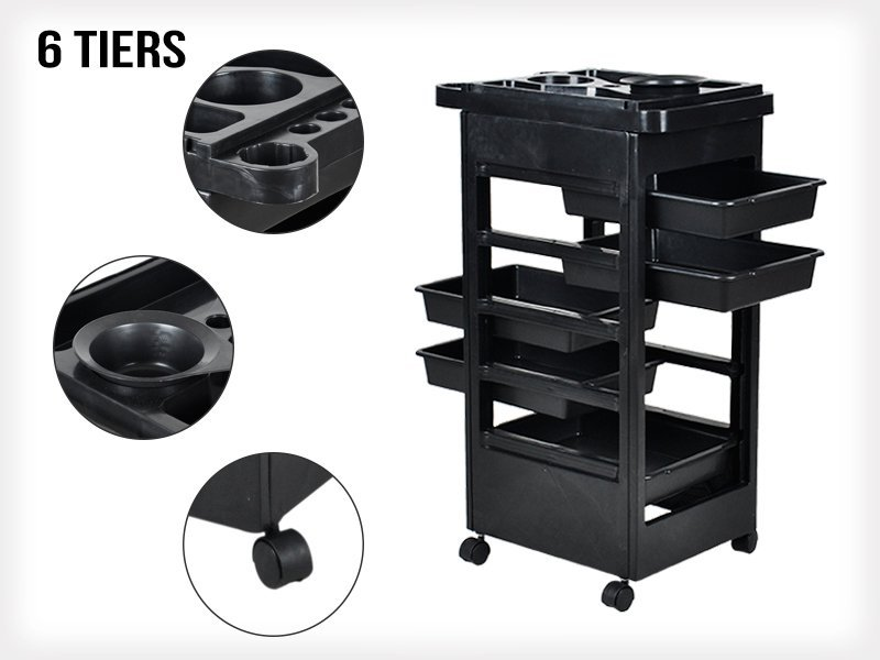 Beauty Salon Rolling Trolley 5 drawers