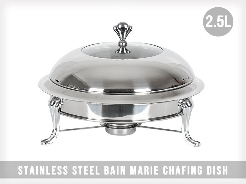2.5L Stainless Steel Bain Marie Chafing Dish