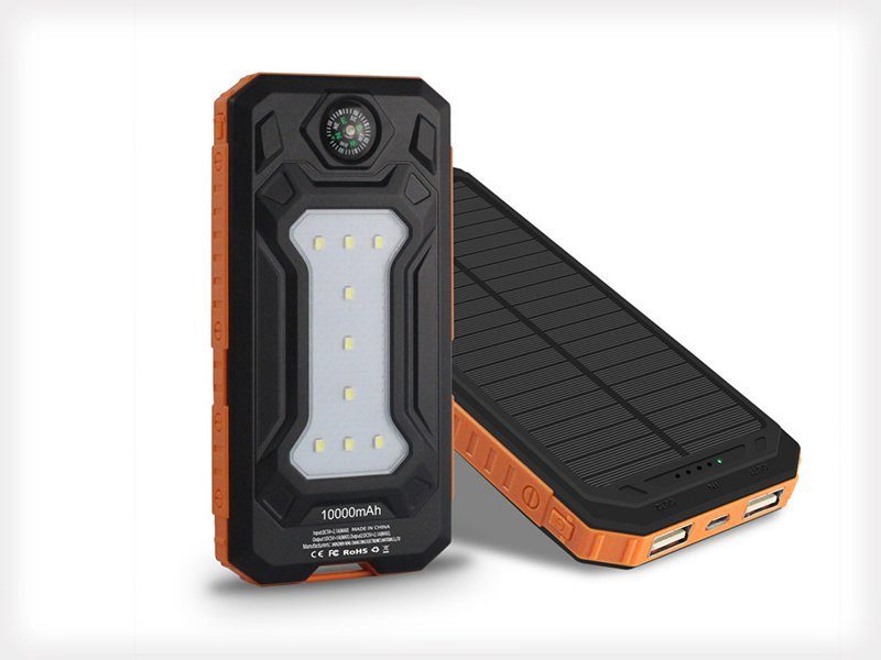 Solar Power Bank 10000mAh Battery Charger