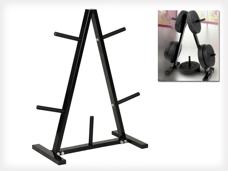 A-Frame Home Gym Weight Plate Storage Rack