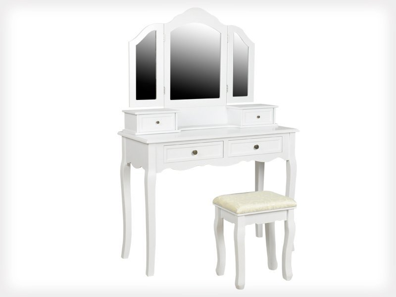Dressing Table with Mirror and Seat