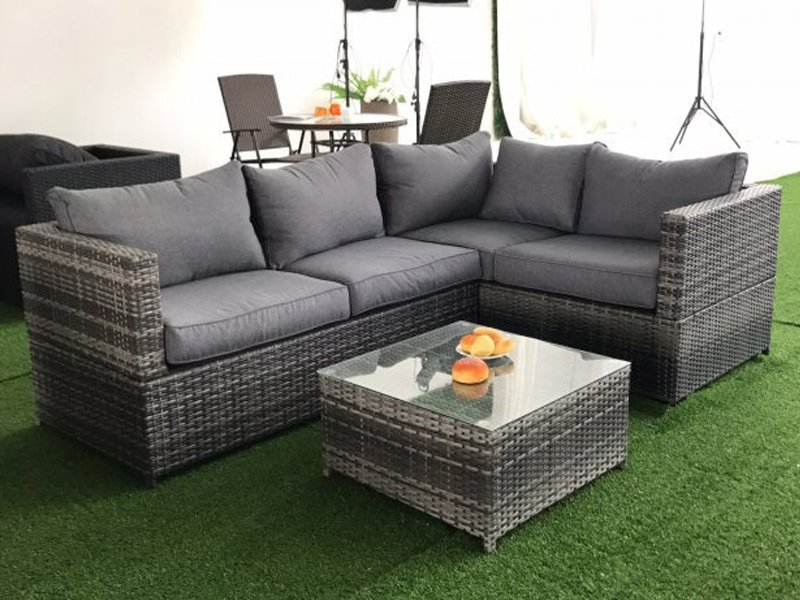 3pc Outdoor PE Rattan Corner Sofa Set