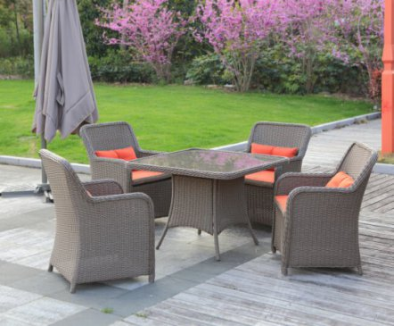 Rattan Dining Set for Four