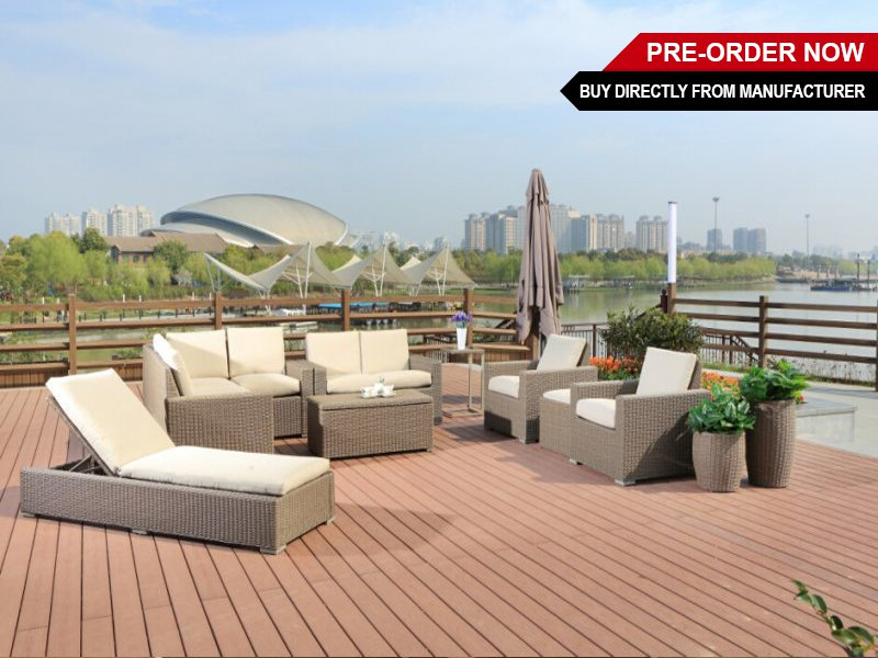 PE Rattan Outdoor Furniture Set - 11pc