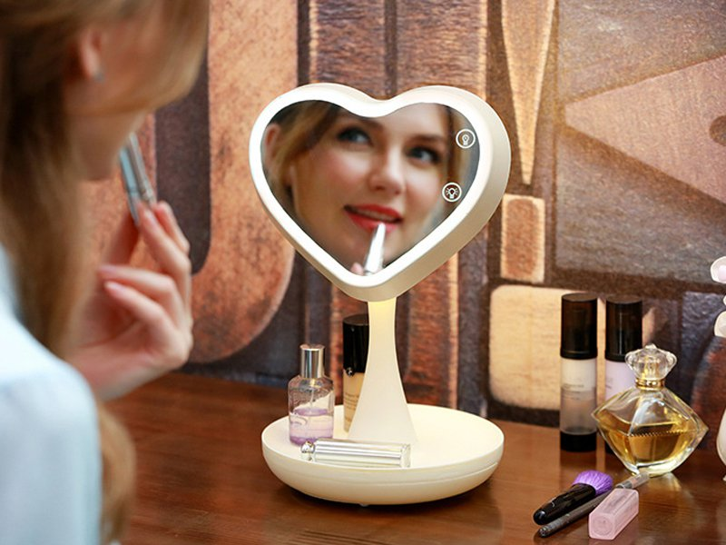 Makeup Mirror With Lamp
