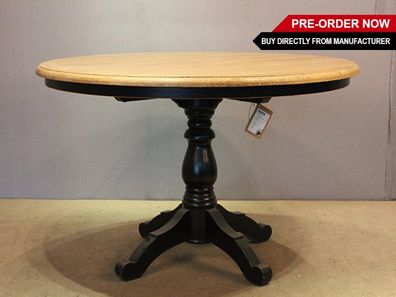 1.2m Oak Round Dining Table