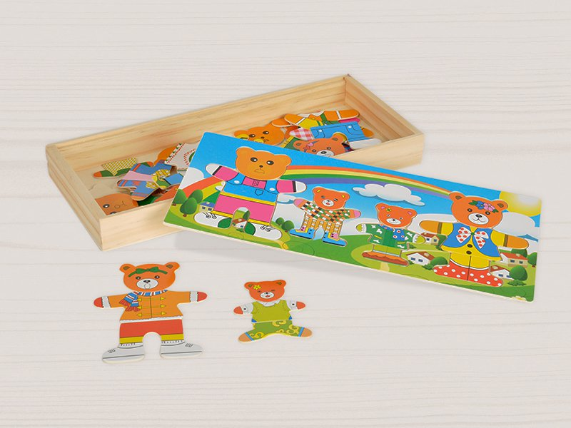Teddy Bear Dressing Up Puzzles