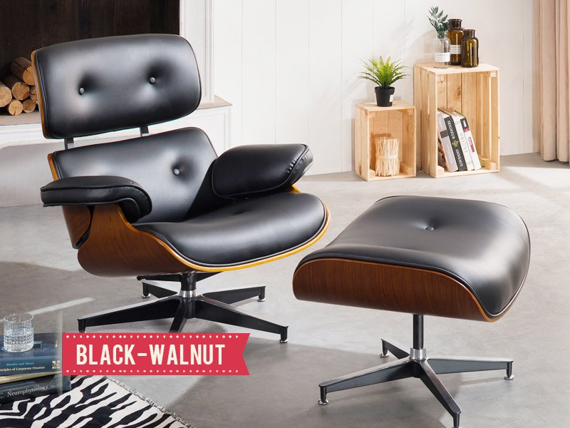 Replica Eames Chair with Ottoman
