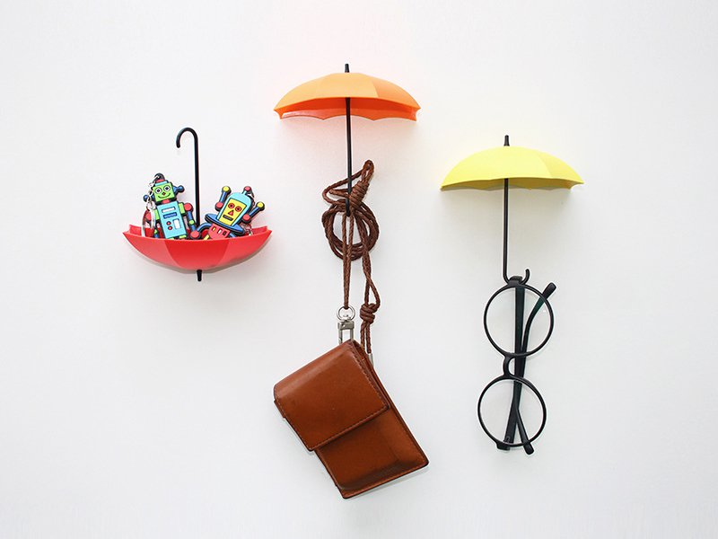 Umbrella Shaped Self Adhesive Storage Wall Hooks