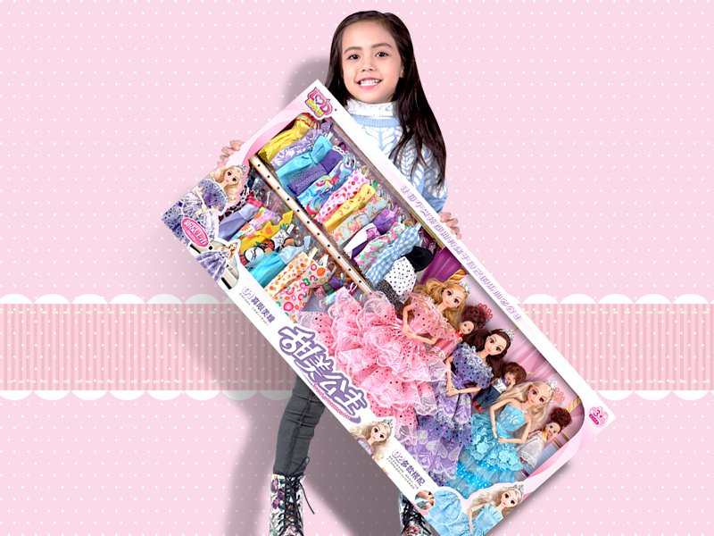 Fashion Boutique Doll Set -154pc